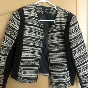 Black and white cropped H&M jacket